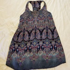 Women's large multicolored racerback dress